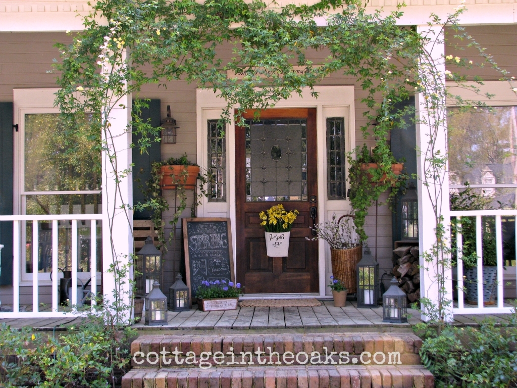 Ways to create a welcoming front porch realty times Cottage porch decorating ideas